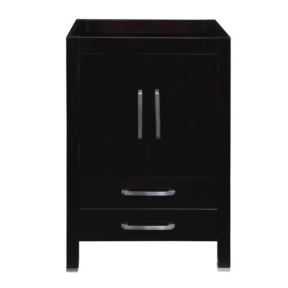 DECOLAV Cameron 24 in. W x 21 in. D x 35.50 in. H Birch Vanity Cabinet Only in Espresso