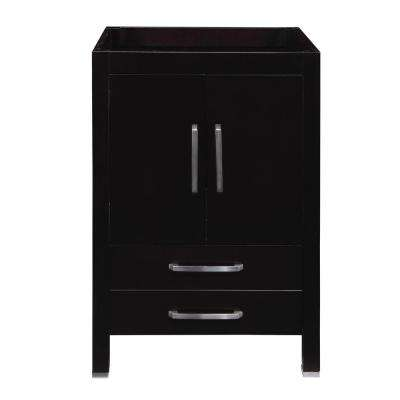 Cameron 24 in. W x 21 in. D x 35.50 in. H Birch Vanity Cabinet Only in Espresso