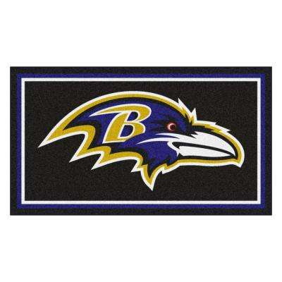 4a17e81c NFL - Baltimore Ravens 3 ft. x 5 ft. Ultra Plush Area Rug