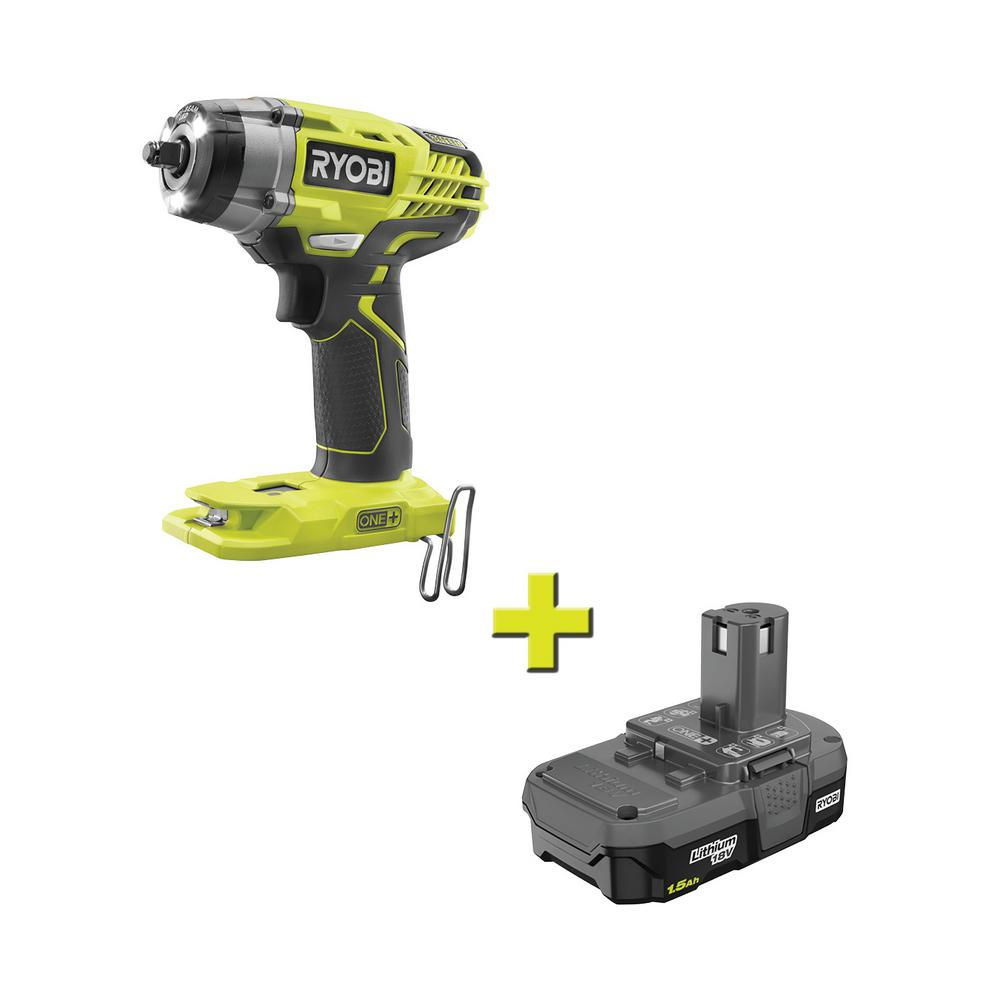 Ryobi 18-Volt ONE+ Cordless 3//8 in Tool Only P263 3-Speed Impact Wrench