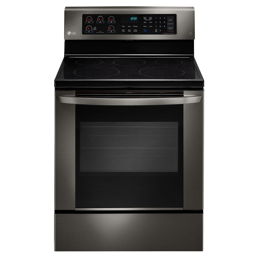 6.3 cu. ft. Electric Range with EasyClean Convection Oven in Black