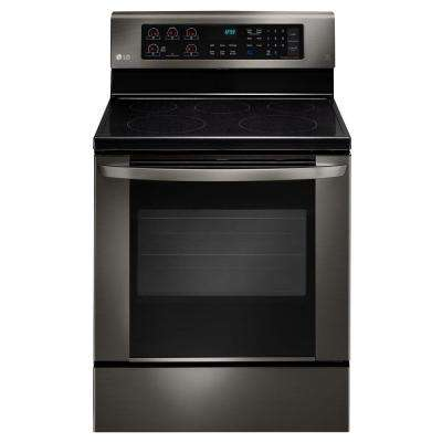 6.3 cu. ft. Electric Range with EasyClean Convection Oven in Black Stainless Steel