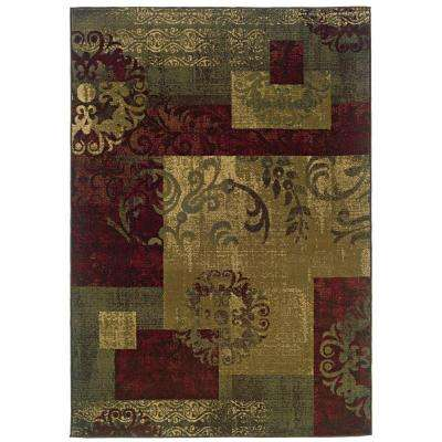 Kiawah Crenshaw Multi 8 ft. x 10 ft. Area Rug