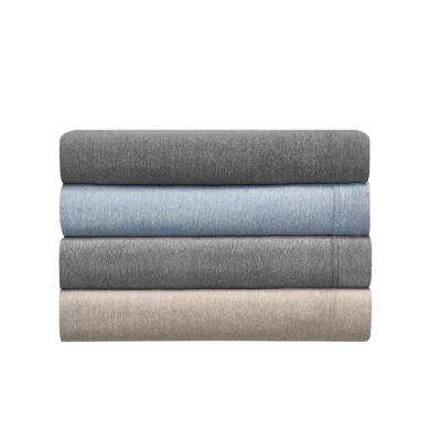 MHF Home Cotton Blend Taupe Jersey Pillowcases (2-Pack)