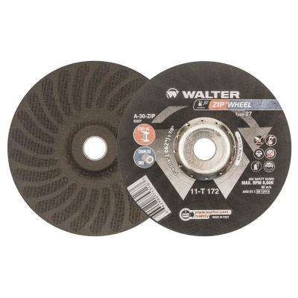 Zip Wheel 7 in. x 7/8 in. Arbor x 1/16 in. Highest Performing Cut-Off Wheel (25-Pack)