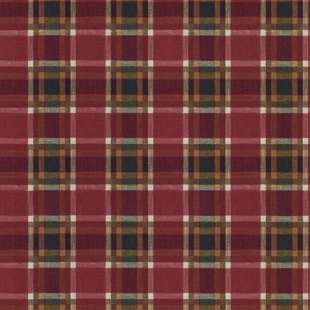 The Wallpaper Company 56 sq. ft. Red and Green Plaid Wallpaper