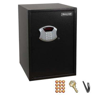 2.66 cu. ft. Large Steel Security Safe with Digital Lock, Black