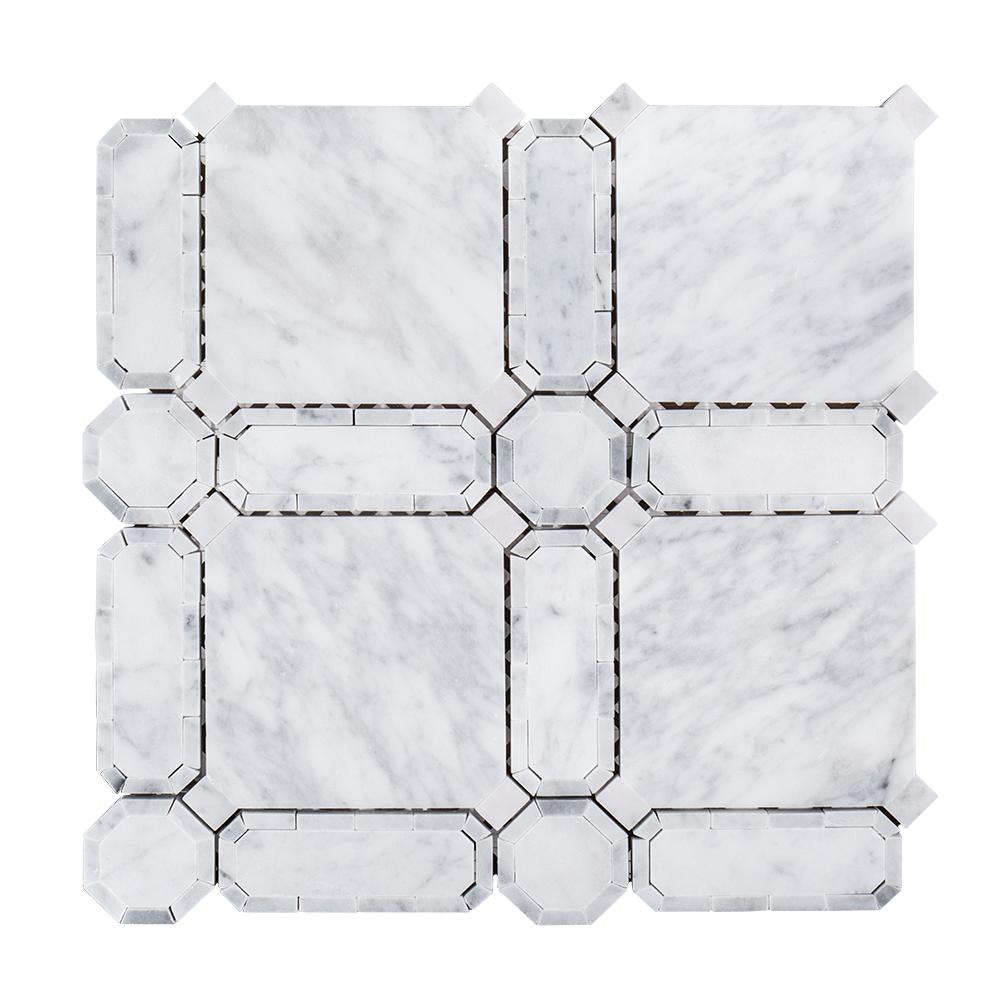 Bath floor - Mosaic Tile - Tile - The Home Depot