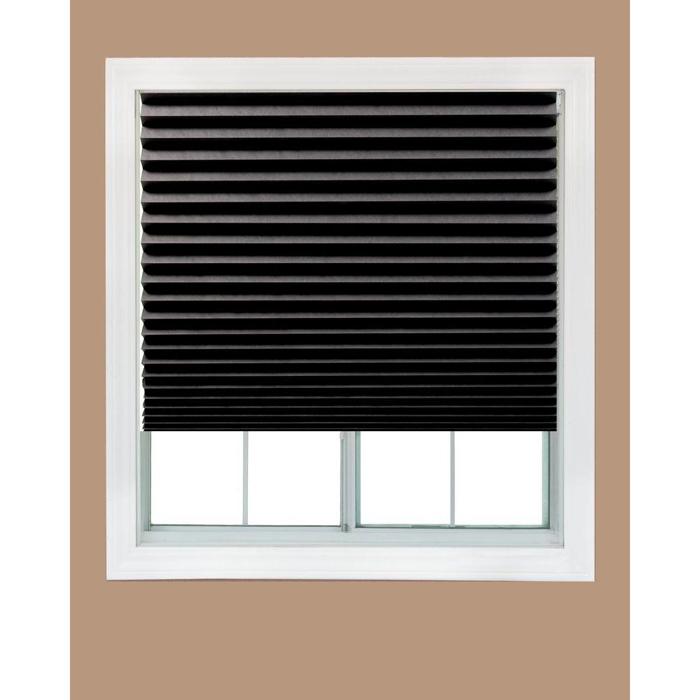 Redi Shade Cut To Size Black Cordless Blackout Privacy Temporary Shades 36 In W X 72