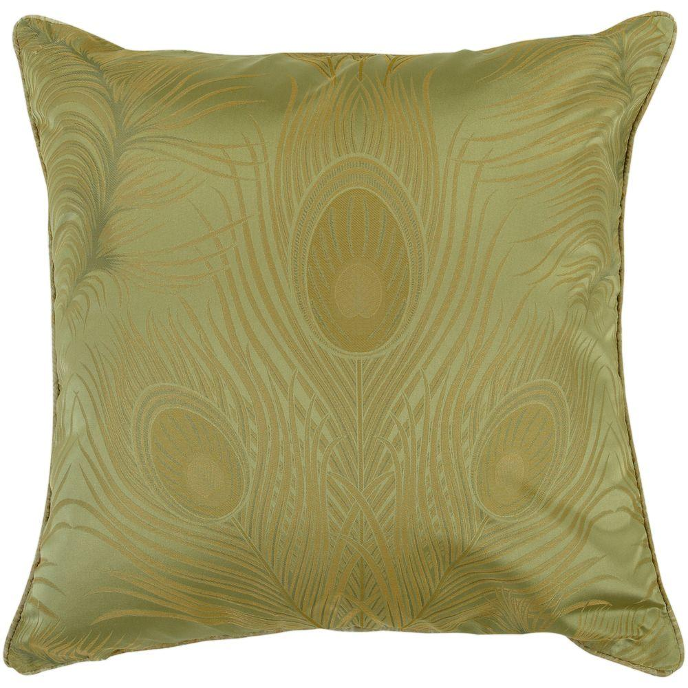 Artistic Weavers Peacock3 18 in. x 18 in. Decorative Down Pillow-DISCONTINUED