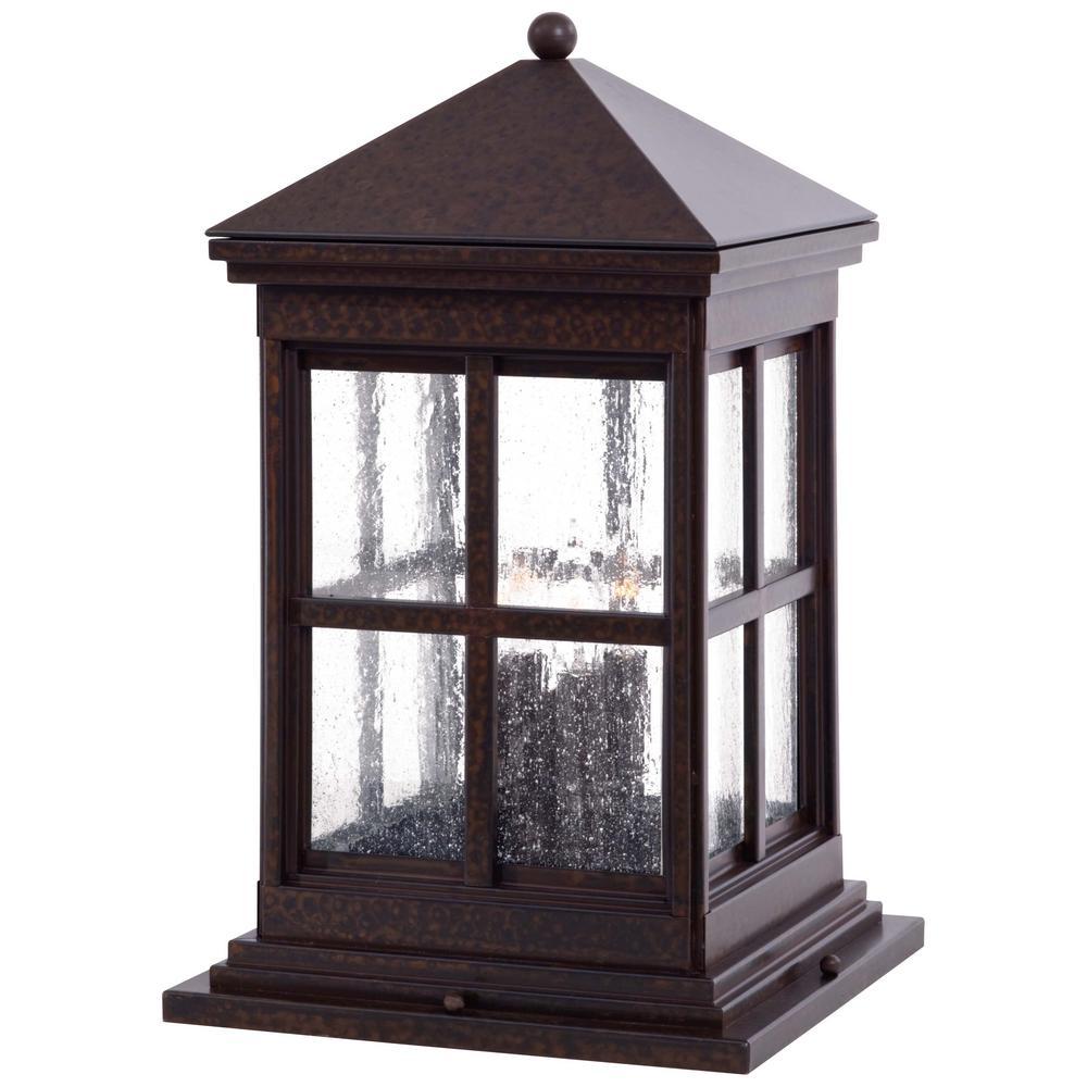 Berkeley 4-Light Rust Outdoor Post Mount Lantern