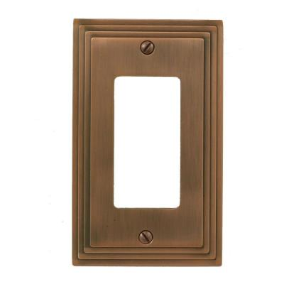 Tiered 1 Gang Rocker Metal Wall Plate - Antique Copper