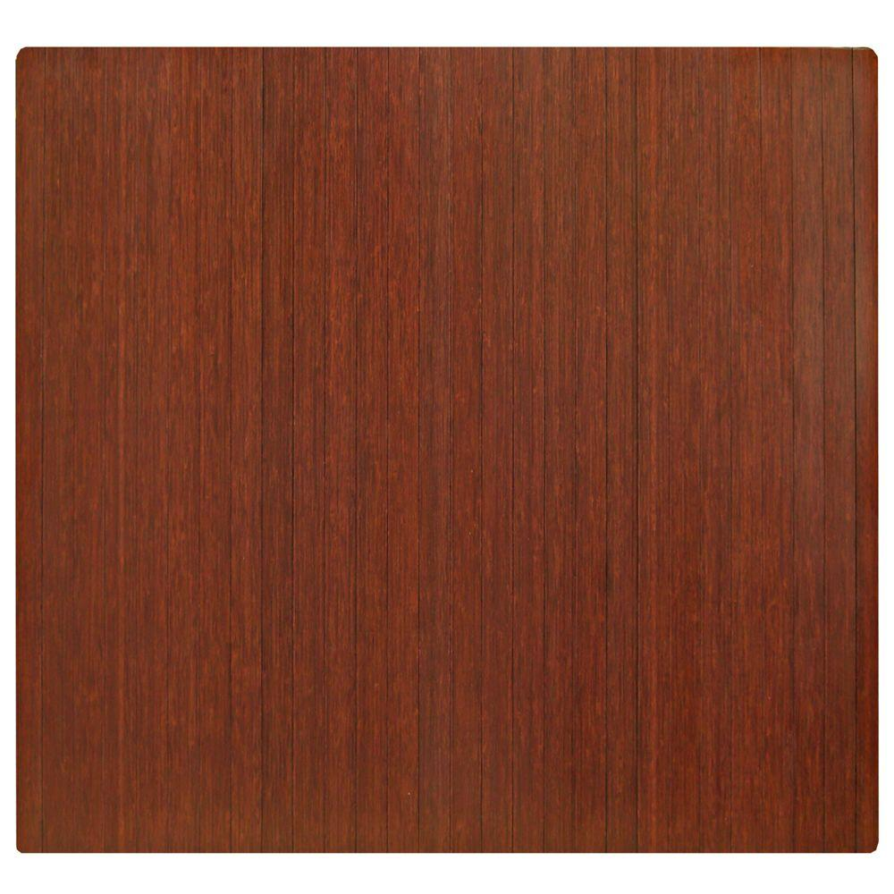 Standard Dark Brown Mahogany 48 in. x 52 in. Bamboo Roll-Up