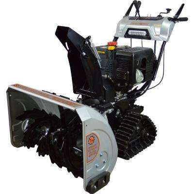 DHT 30 in. Dual Stage Gas Snow Blower with 302cc Electric Start Engine and Tank Tracks