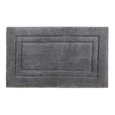 Imperial 20 in. x 34 in. Cotton Bath Mat in Pewter