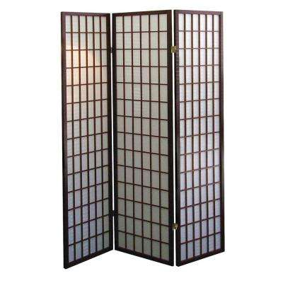 5.83 ft. Cherry 3-Panel Room Divider