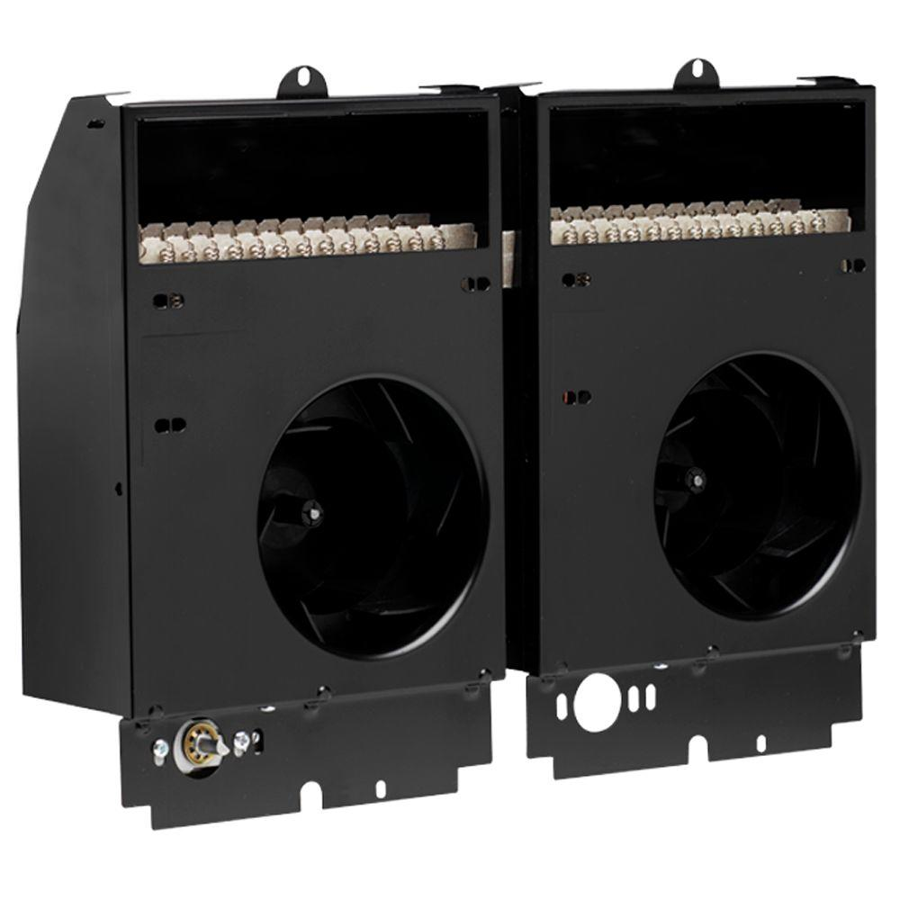 Com-Pak Twin 4,000-Watt 240-Volt Fan-Forced Wall Heater Assembly Only with