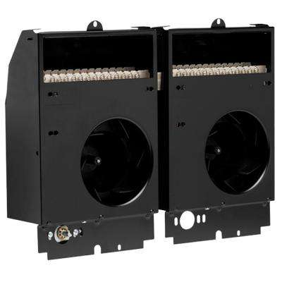 Com-Pak Twin 4,000-Watt 240-Volt Fan-Forced Wall Heater Assembly Only with Thermostat