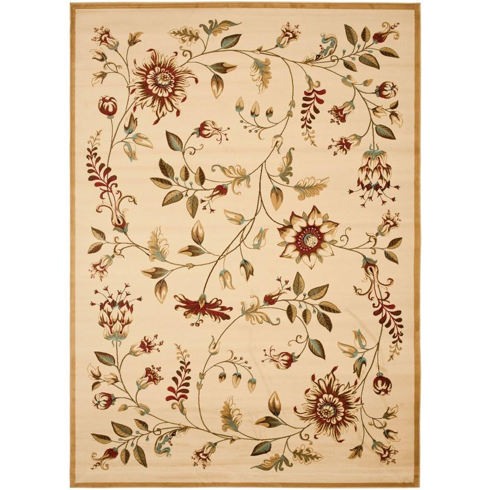 Lyndhurst Ivory/Multi 8 ft. x 11 ft. Area Rug