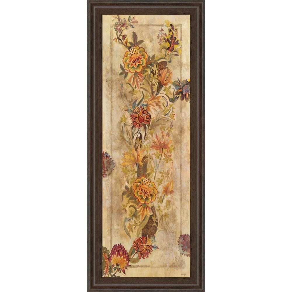 18 in. x 42 in. ''Fleur Delicate II'' by Georgie Framed