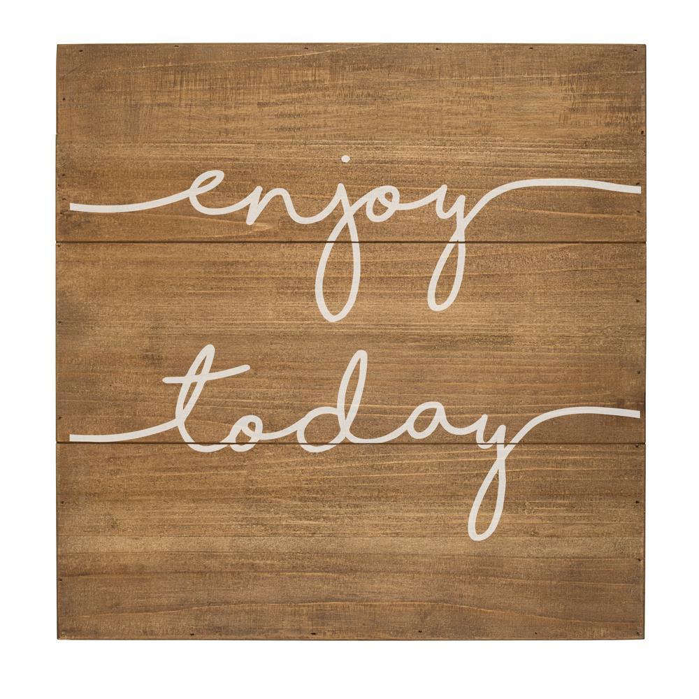 Enjoy Today Rustic Wood Wall Art