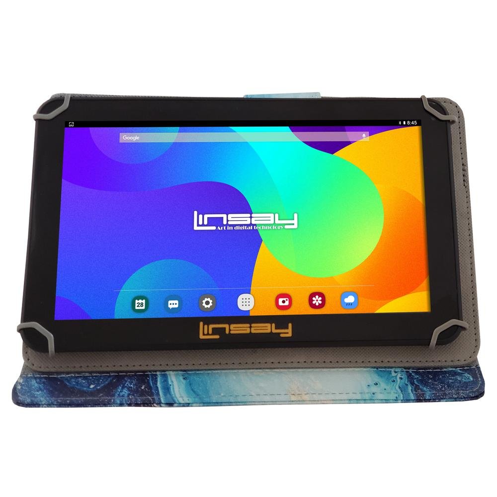 LINSAY 10.1 in. 2GB RAM 16GB Android 9.0 Pie Quad Core Tablet with Ocean Marble Case was $179.99 now $87.99 (51.0% off)