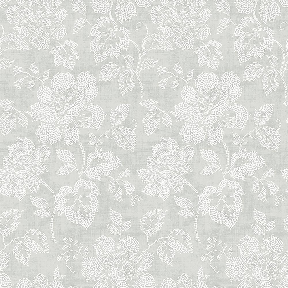 A-Street Tivoli Grey Dot Wallpaper 2702-22736