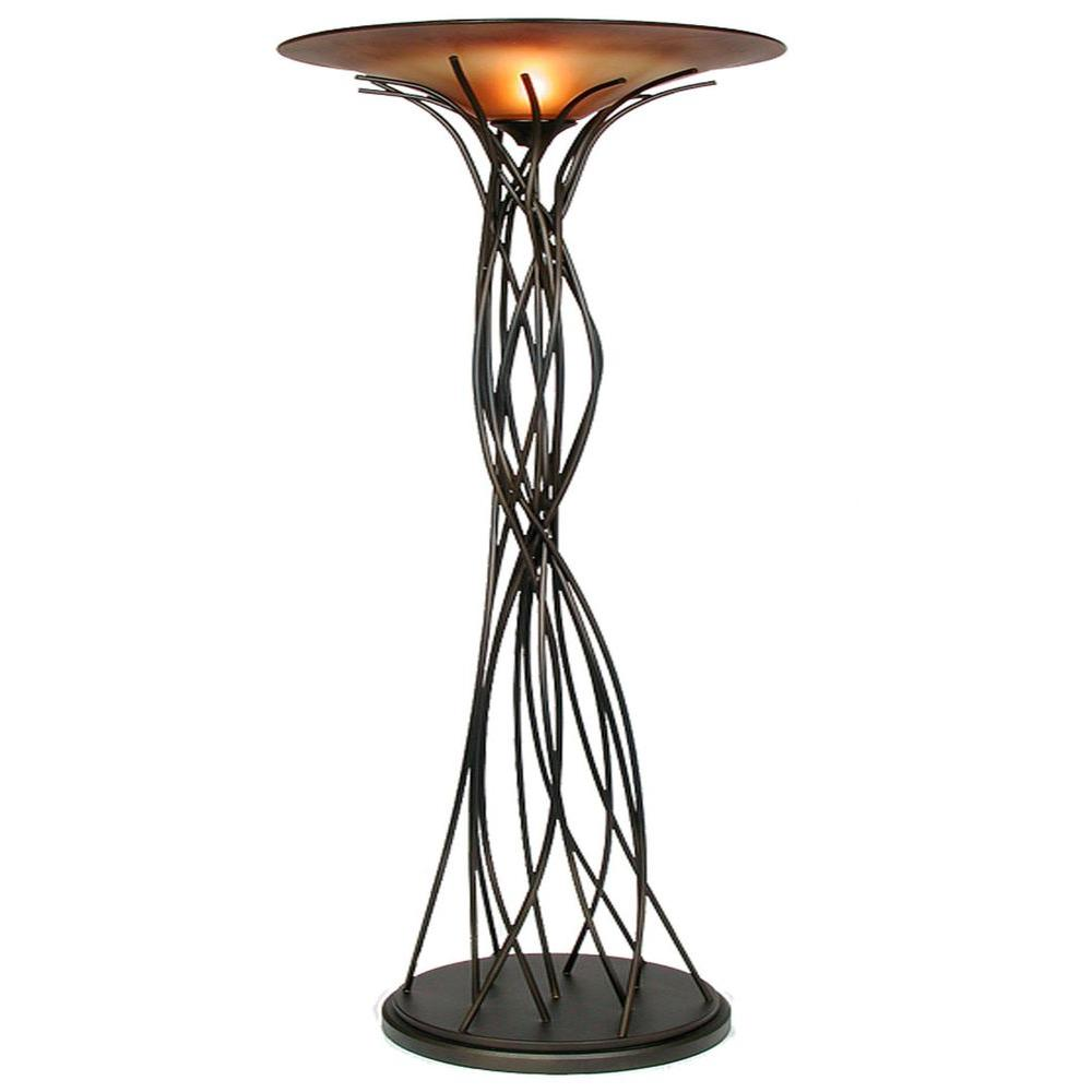 Caramel And Black Torchiere Lamp