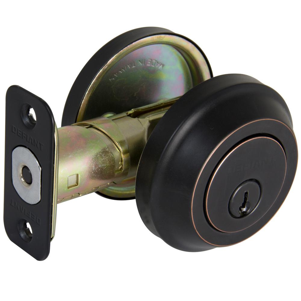 Contemporary Aged Bronze Single Cylinder Deadbolt