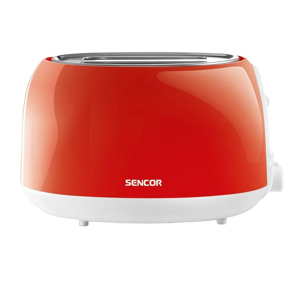 2-Slice Solid Red Toaster, Red/Orange Automatic centering function for even toasting of thick and thin toasts. High lift function for easy removal of smaller toasts. Electronic timer - 6 toasting intensity levels. Color: Red/Orange.