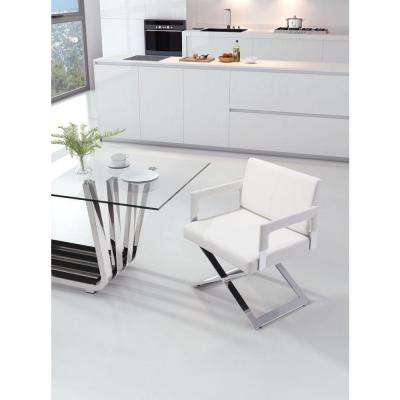 Yes White Leatherette Dining Chair