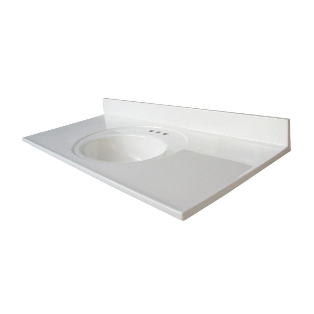 48 inch vanity top with offset right bowl