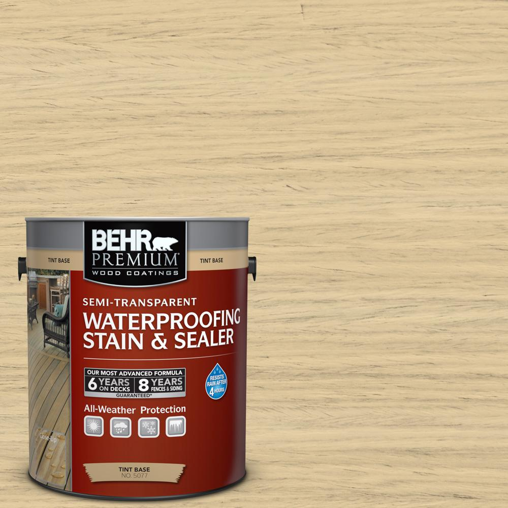1 gal. #ST-133 Yellow Cream Semi-Transparent Waterproofing Exterior Wood Stain