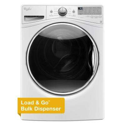 4.5 cu. ft. Front Load Washer with Load & Go in White, 12 Cycles
