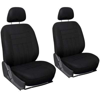 26 in. L x 21 in. W x 48 in. H 6-Piece Seat Cover Set in Solid Black