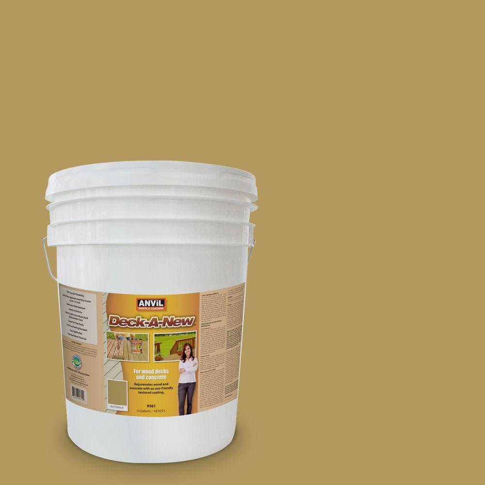 Deck-A-New 5 gal. Butternut Rejuvenates Wood and Concrete Decks Premium Textured Resurfacer