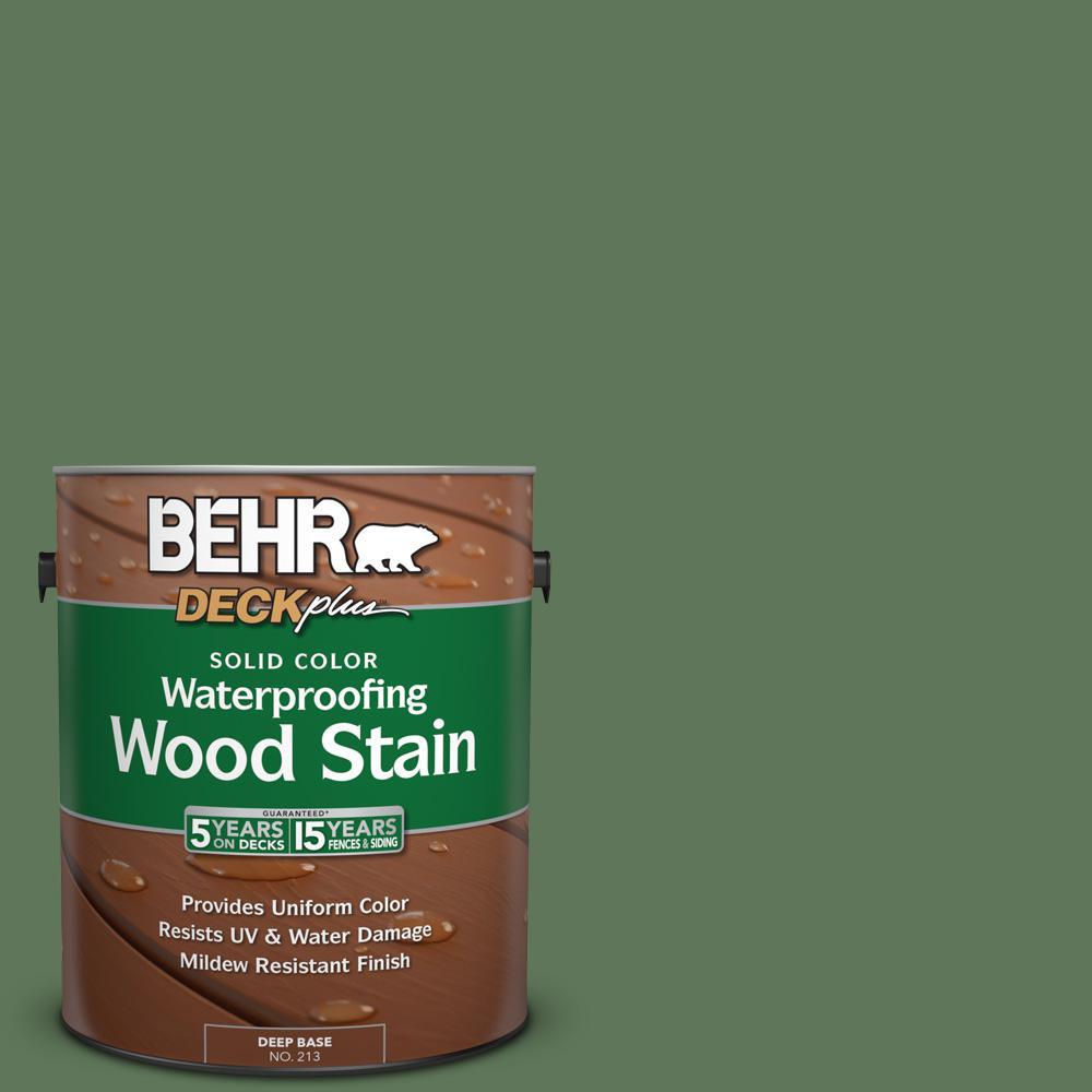 BEHR DECKplus 1 gal. #SC-126 Woodland Green Solid Color Waterproofing Wood Stain