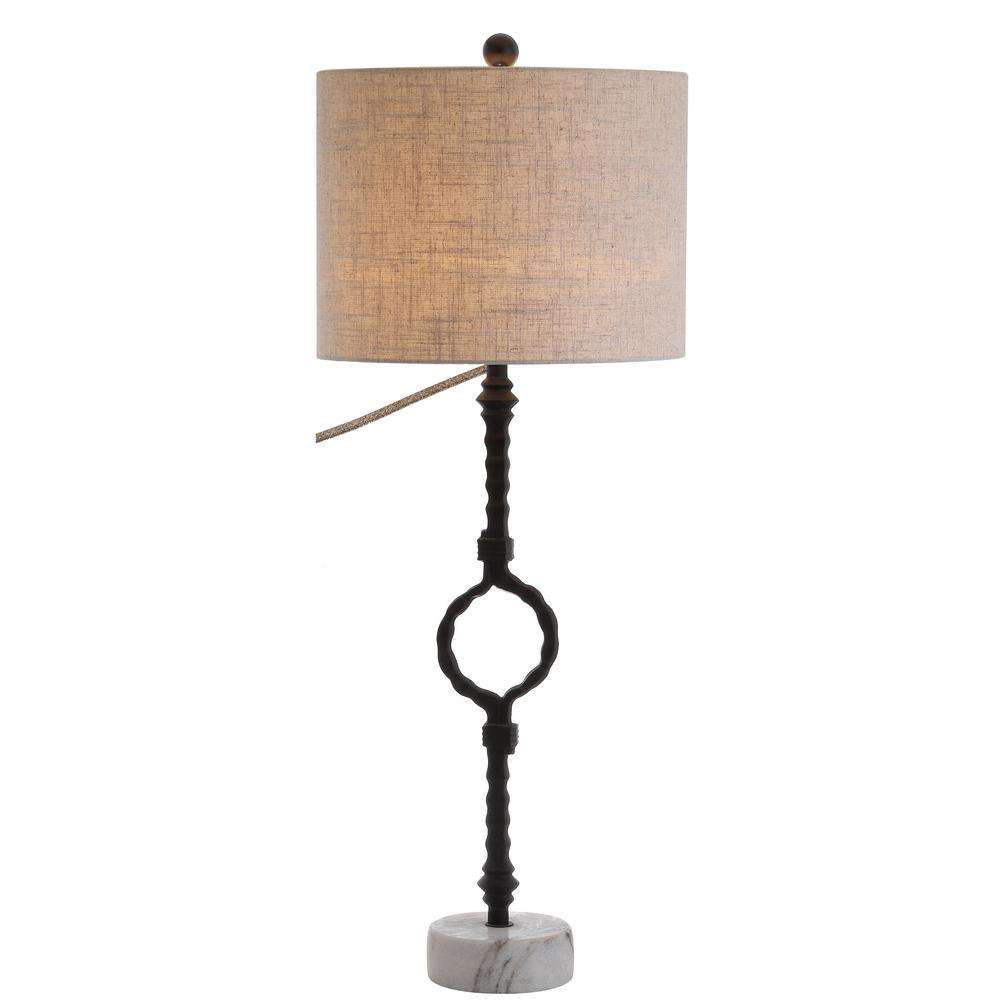 Jonathan Y Mercer 325 In Metalmarble And Blackgray Table Lamp