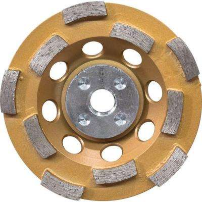 4-1/2 in. Double Row Anti-Vibration Diamond Cup Wheel