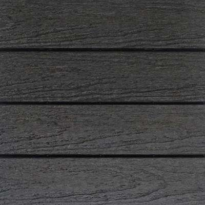 UltraShield Naturale 1 ft. x 1 ft. Quick Deck Outdoor Composite Deck Tile Sample in Hawaiian Charcoal