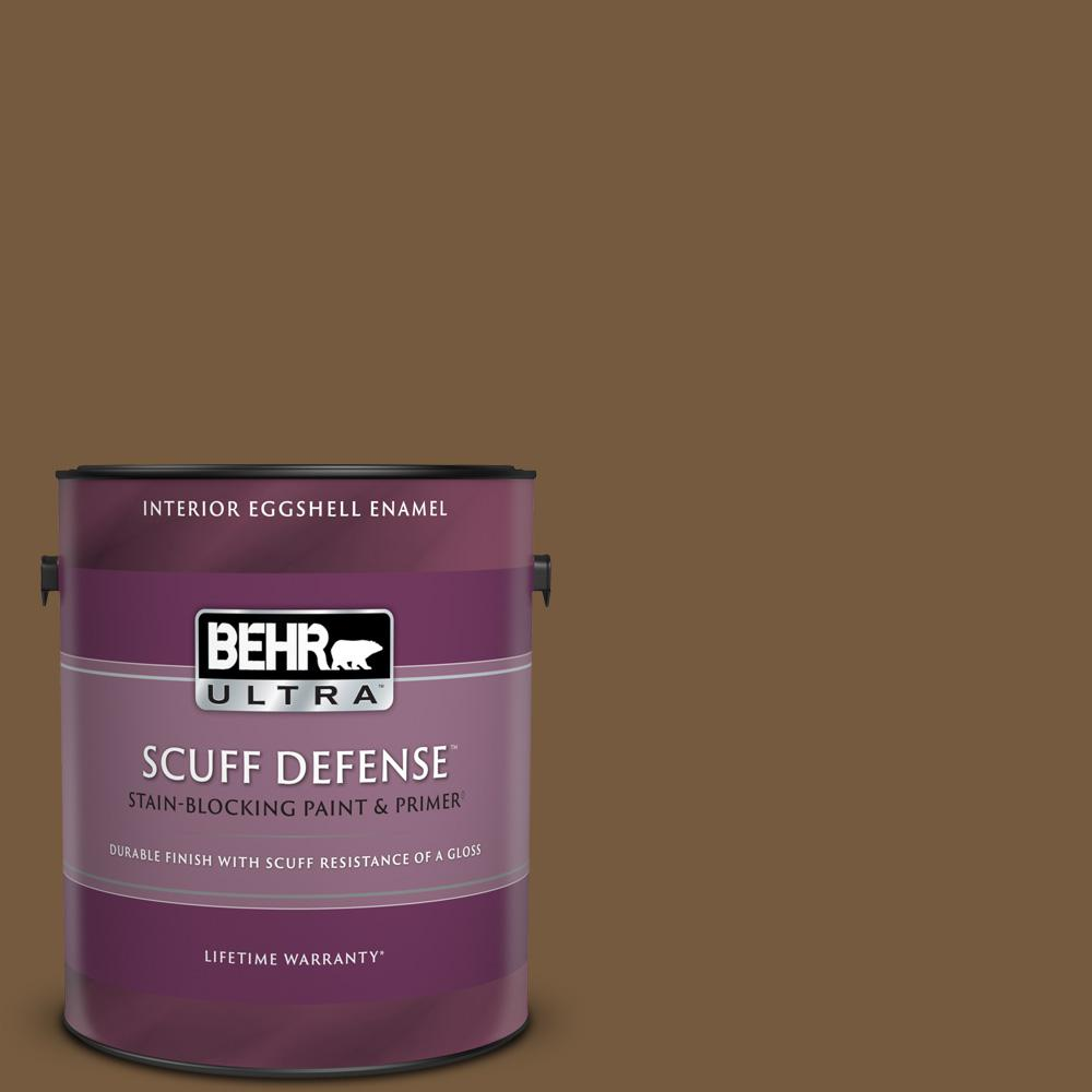 Behr Ultra 1 Gal 290f 7 Wooden Cabin Extra Durable Eggshell Enamel Interior Paint Primer 275301 The Home Depot