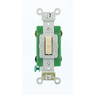 30 Amp Industrial Grade Heavy Duty Double-Pole Toggle Switch, Ivory