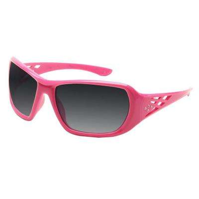 Rose Ladies Eye Protection, Pink Frame/Gray Lens