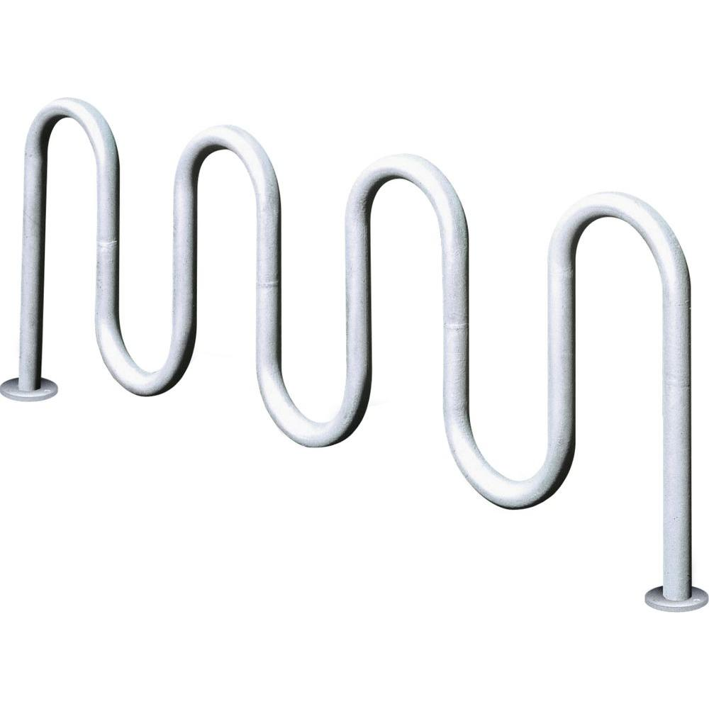 Ultra Play 7 ft Contemporary 7-Loop Inground Mount Commercial Bike Rack