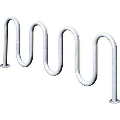 7 ft Contemporary 7-Loop Inground Mount Commercial Bike Rack