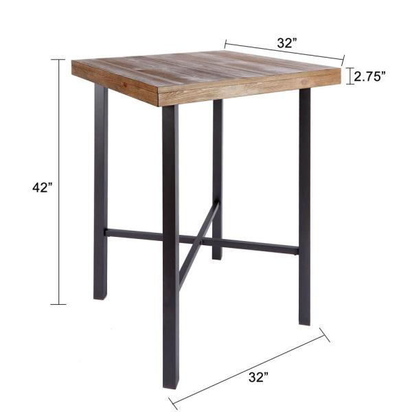 Silverwood Furniture Reimagined Fowler Industrial Brown Bar Table Cpfd1055 Com The Home Depot