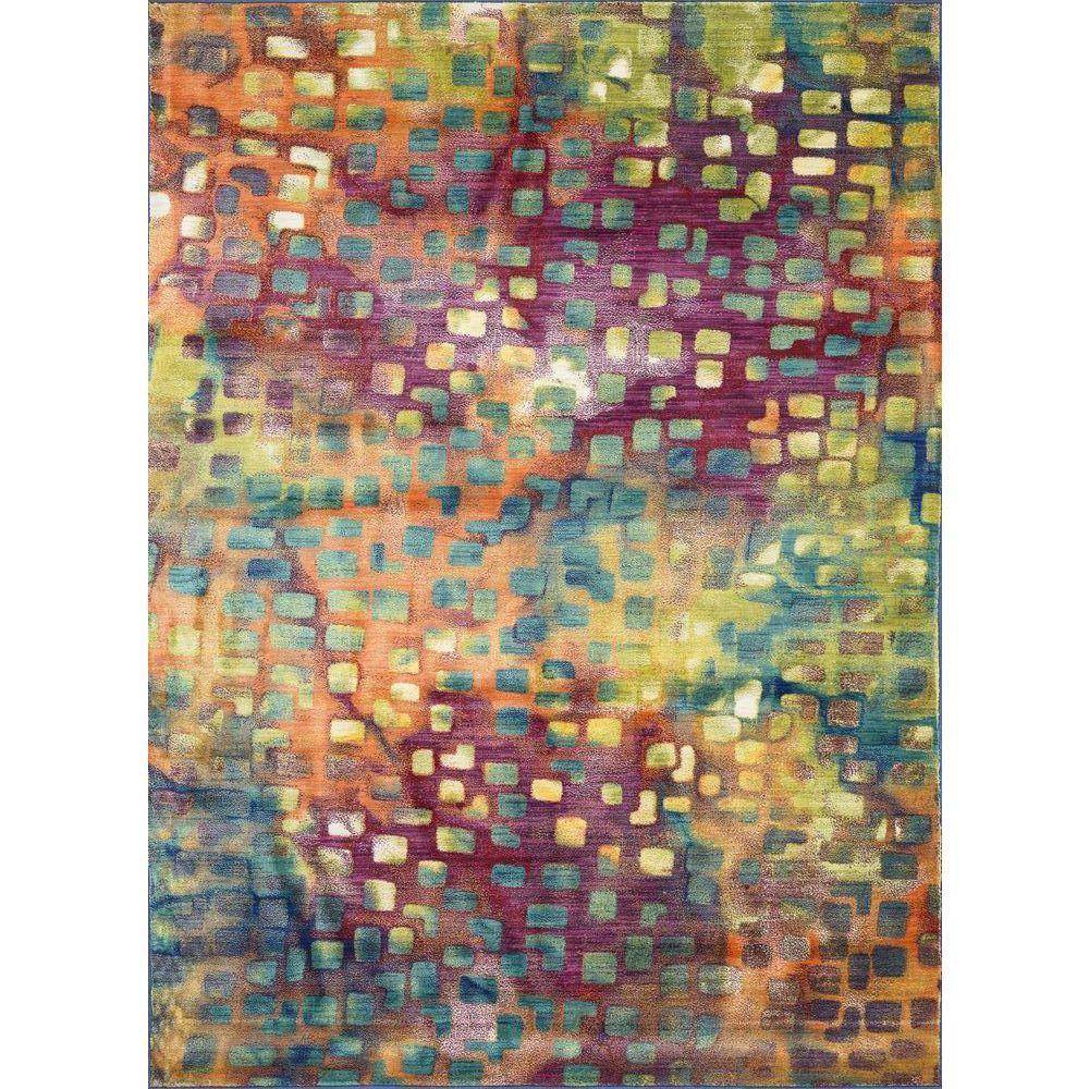 Loloi Rugs Lyon Lifestyle Collection Festival 3 ft. 9 in. x 5 ft. 2 in. Area Rug