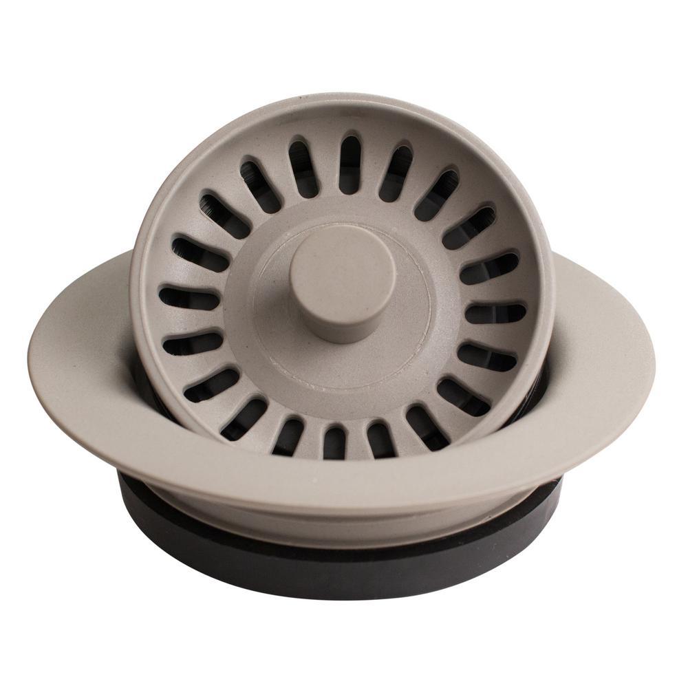 Karran 3-1/2 in. Kitchen Sink Decorative Disposal Flange in Concrete