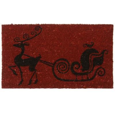 Rudolph The Red Nose Reindeer 18 in. x 30 in. Holiday Door Mat