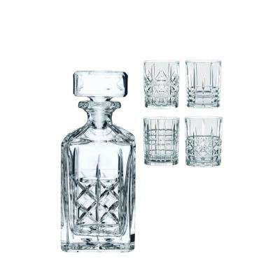 Highland Whiskey Set Decanter with 4 Tumblers